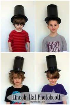 DIY Abe Lincoln Stovepipe hat--Presidents Day photobooth prop