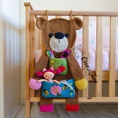 Ravelry: Teddy Bear Organizer pattern by Carolina Guzman   - paid pattern