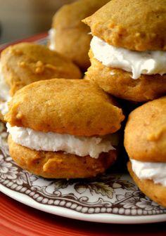 Pumpkin Sandwich Cookies | Cozycakes Cottage
