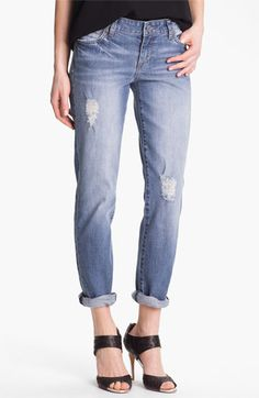 KUT from the Kloth 'Catherine' Distressed Slim Boyfriend Jeans (Discover) available at #Nordstrom