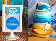 Once Upon a Party by Carol featured in Fara Party Design Teen Beach, Fiesta Party, Surfs Up, Summer Parties, Cake, Birthday, Desserts, Kids, Design