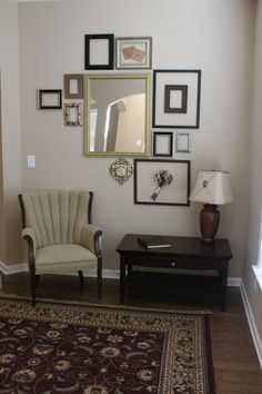 empty frame wall with all white frames