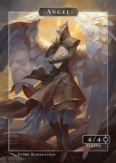 The best online store with custom tokens for Magic: The Gathering. MTG tokens in foil, manga, fantasy or cartoon style. Dark Fantasy, Fantasy Art, Guerrero Dragon, Fantasy Characters, Anime Characters, Ange Demon, Art Et Illustration, Angels And Demons, Character Design Inspiration
