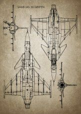 Military Blueprints Blueprints poster prints by Ihab Design Fighter Aircraft, Fighter Jets, M18 Hellcat, Jas 39 Gripen, Eden Design, Sweden, Blueprint Art, Aircraft Maintenance, Airplane Design