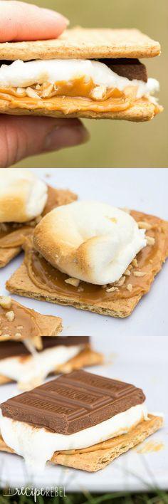 Caramel Peanut Butter S'mores: