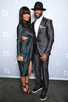 Chris Paul & his beautiful wife during NBA ALL STAR WEEKEND 2015