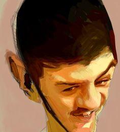 Hard to work on - self caricature