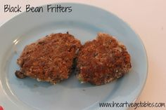 Black Bean Fritters - I Heart Vegetables
