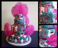 Pink Masquerade Cake - Erica Jean