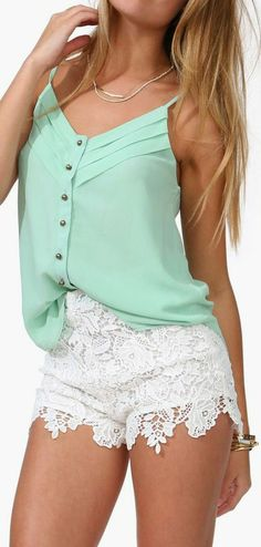 I like the Mint Tank Top, but not really the shorts...