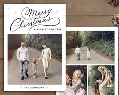 Premium Photoshop templates for photographers by StudioStrawberry Christmas Card Template, Christmas Cards, Card Templates, Happy New Year, Photographers, Etsy Seller, Photoshop, Place Card Holders, Handmade Gifts