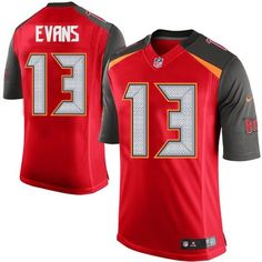 Nike Limited Mike Evans Red Men's Jersey - Tampa Bay Buccaneers #13 NFL Home