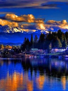 "spa1ce: "" Beautiful lake Stevens WA. """