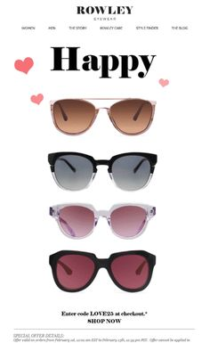 349d101cbd Rowley Eyewear Valentine s Day email