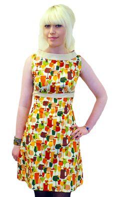 Cheers HEARTBREAKER Retro 60s Fifi A-Line Dress | atomretro.com
