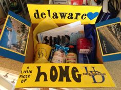 """""""A little piece of home"""" care package idea"""
