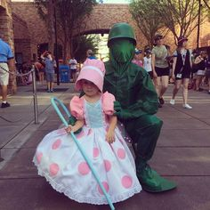 Lane Roche Mini Me Bo Peep & Toy Soldier. Mom made the adorable costume Mini is wearing