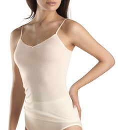 Hanro Womens Woolen Silk Camisole Top | Luxury Spaghetti Top I 47 EUR