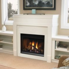 fireplace shelves- would be great with cushions on top for benches