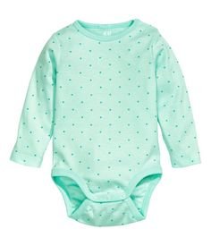 Long-Sleeved body suit- 0-9 mos | H&M US