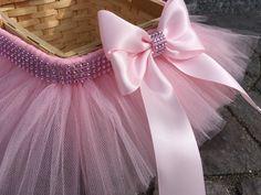 Princess Easter Tutu Basket Flower Girl Basket by MissMadelynsBows