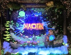Kaotik Sond System, blacklight by wickedspaceant on DeviantArt Glow, Neon Signs, Paintings, Deviantart, Canvas, Frame, Tela, Picture Frame, Paint