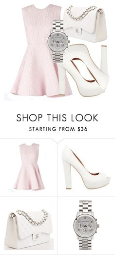 """""""579"""" by laurie-hooope ❤ liked on Polyvore featuring Giambattista Valli, SPURR, Chanel and Michael Kors"""