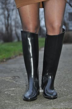 Wellies Rain Boots, Black Rubber, Rubber Rain Boots, Riding Boots, Women's Fashion, Sexy, Shoes, Beautiful, Natural Rubber