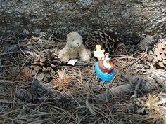Teddy bear and Goofy in a boat, photo by JoAnn Keen, 6/19/2013