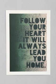 Leah Flores Follow Your Heart Art Print #urbanoutfitters