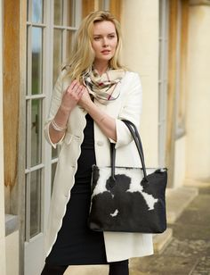 Black and White Bag - The Foxley Cowhide Crossbody is crafted from the very finest ethically sourced cowhide. Each bag is unique, thanks to its carefully hand-selected hide and beautiful patterning.