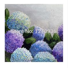 Cheap oil painting, Buy Quality the paintings directly from China handmade oil painting Suppliers: Hand Painted Wall Art Pretty Purple Light Blue Sky Full of Star Filled the Garden Circle Flowers Handmade Oil Painting On Canvas