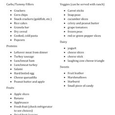 easy back to school lunch box snack ideas print this list out and