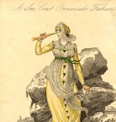 Seacoast promenade dress, Autumn 1809 :: Fashion Plate Collection, 19th Century