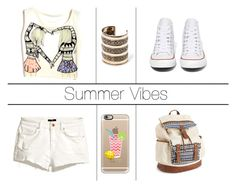 Summer Vibes by claudiadarcy101 on Polyvore featuring polyvore, fashion, style, H&M, Converse, Aéropostale, MANGO and Casetify