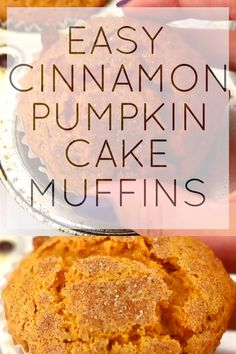 "I think that the word muffin is another word for cake. "" Mommy, may I have a s. - Food porn - I think that the word muffin is another word for cake. "" Mommy, may I have a slice of cake for bre - Best Pumpkin Muffins, Pumpkin Muffin Recipes, Vegan Pumpkin, Cinnamon Muffins, Recipes With Canned Pumpkin, Pumpkin Pancakes, Baking Recipes, Dessert Recipes, Healthy Bread Recipes"