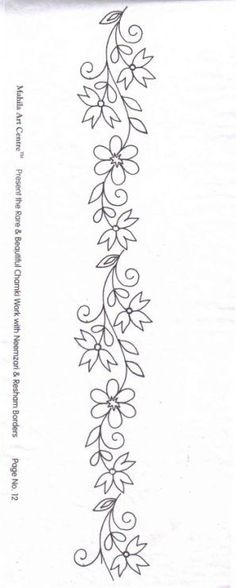 Awesome Most Popular Embroidery Patterns Ideas. Most Popular Embroidery Patterns Ideas. Border Embroidery Designs, Hand Embroidery Patterns, Applique Patterns, Ribbon Embroidery, Beading Patterns, Cross Stitch Embroidery, Machine Embroidery, Mexican Embroidery, Brazilian Embroidery