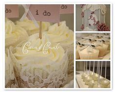 Rachel's cake table by Cotton and Crumbs, via Flickr