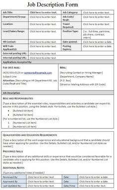Free Job Description Templates | Projects to Try | Pinterest | Job ...