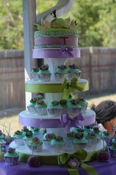 Princess and the Frog Cupcake Tower