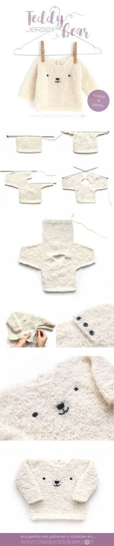 Jersey de bebé de punto – Teddy B #bebe