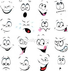 Illustration about Illustration of cartoon faces on a white background. Illustration of happy, illustration, people - 38733835 Cartoon Faces Expressions, Funny Cartoon Faces, Cartoon Drawings, Art Drawings, Angry Cartoon, Easy Cartoon, Drawing Faces, Free Illustrations, Illustration Art