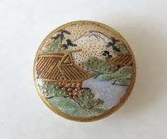 ANTIQUE SATSUMA BUTTONS  Antique Japanese by LaGareDesBoutons