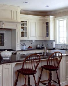 Pasadena Colonial | Colonial kitchen, Colonial and Glass cabinet doors