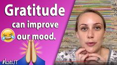 Gratitude can improve our mood Showing Gratitude, Journal Topics, Depression, How To Get, Mood, Canning, Youtube, Spirit, People