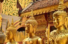 At the Wat Prathat Doi Suthep Buddhist temple, near Chiang Mai, Thailand. Photo Doug Johnson
