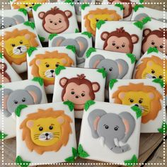 Cookies For Kids, Fancy Cookies, Cute Cookies, 2nd Birthday Party Themes, Girl 2nd Birthday, Galletas Cookies, Sugar Cookies, Safari Centerpieces, Sugar Cookie Royal Icing