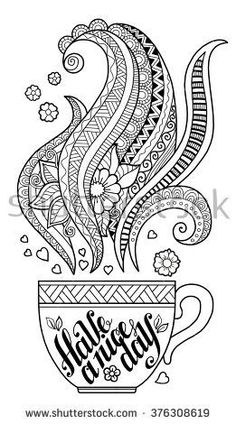 Hand draw coloring book for adult. Mandala Coloring Pages, Coloring Pages To Print, Colouring Pages, Adult Coloring Pages, Coloring Books, Mandala Pattern, Zentangle Patterns, Mosaic Patterns, Mandala Art Lesson