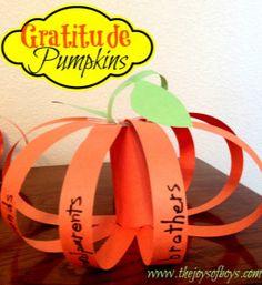 Gratitude Pumpkins - Thanksgiving craft for kids