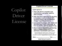 Copilot Driver License Learn he truth about driving distractions that may save you life, and help protect your family and friends by making this video viral for safety! Your Family, Save Yourself, Automobile, Foundation, Safety, Learning, Friends, Life, Car